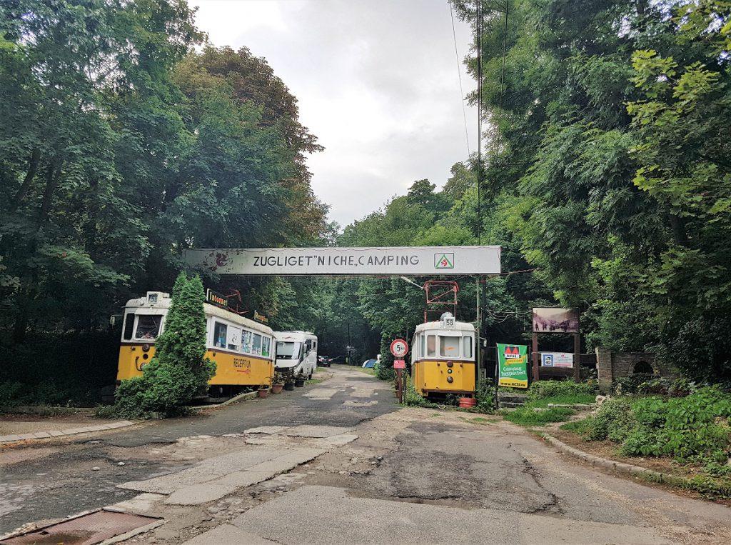 boedapest camping dichtbij trams